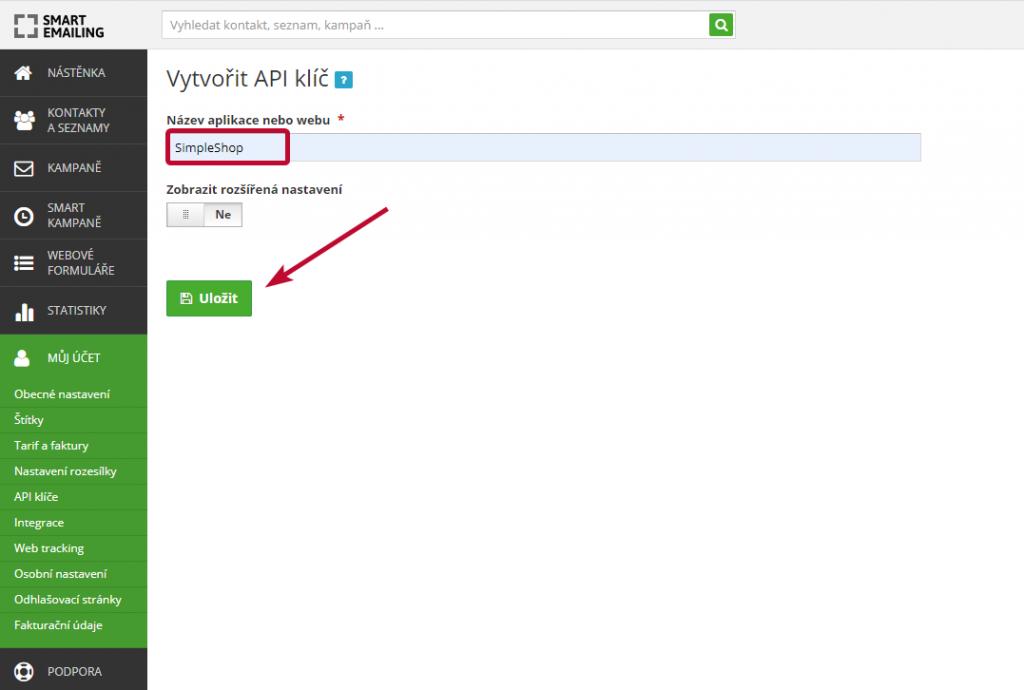 API klíč