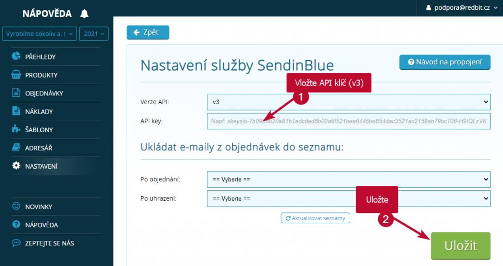 SimpleShop SendinBlue
