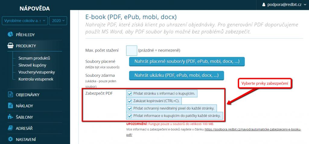 Výběr prvků zabezpečení pdf